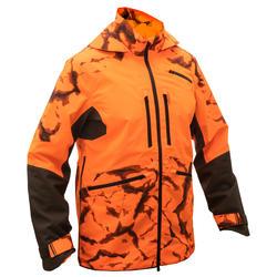 Stevige en waterdichte jachtjas Supertrack 900 light fluo-oranje