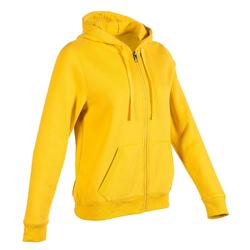 520 Women's Pilates & Gentle Gym Hooded Jacket - Yellow