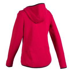 女款溫和健身與皮拉提斯Spacer連帽外套900 - 粉色