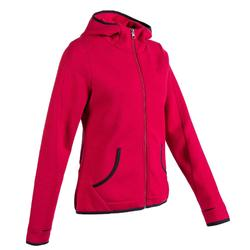 Women's Pilates Gentle Gym Hooded Spacer Jacket 900 - Pink