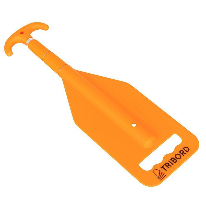 Telescopische peddel bootshaak oranje