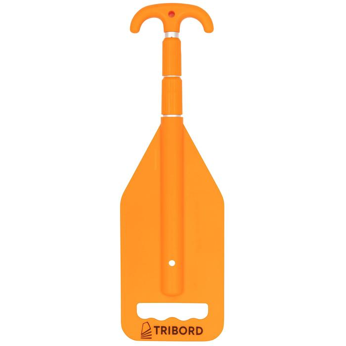 Pagaie gaffe telescopique bateau orange