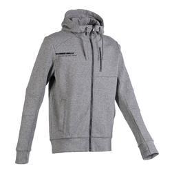 男款溫和健身與皮拉提斯外套980 - 灰色