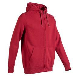 溫和健身與皮拉提斯連帽外套900 - 暗紅色