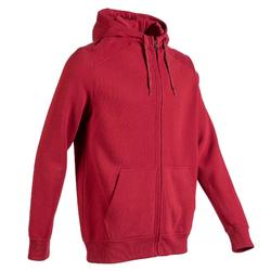Men's Hooded Zip-Up Jacket 900 - Burgundy