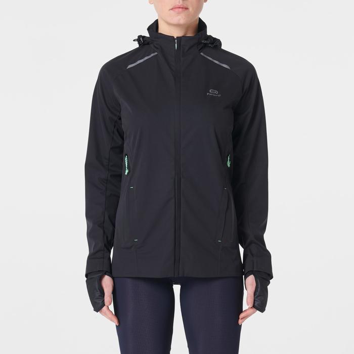 女款跑步外套KIPRUN WARM REGUL - 黑色
