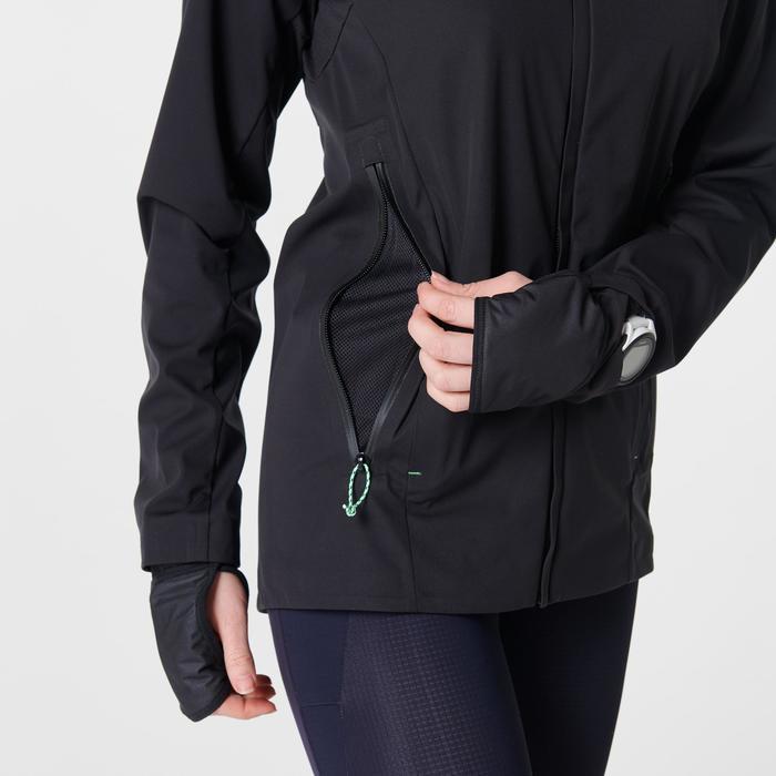 WOMEN'S RUNNING JACKET KIPRUN WARM REGUL - BLACK