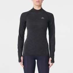 KIPRUN SKINCARE WOMEN'S LONG-SLEEVED RUNNING T-SHIRT - BLACK