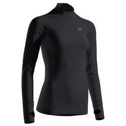 Thermoshirt hardlopen met lange mouwen voor dames Kiprun Skincare zwart