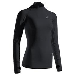 WOMEN'S RUNNING LONG-SLEEVED TS KIPRUN SKINCARE - BLACK