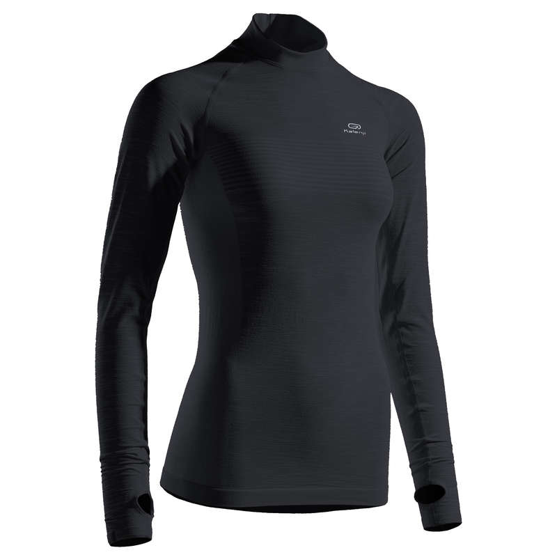 WOMAN ROAD RUNNING COLD WEATHER CLOTHES Clothing - KIPRUN SKINCARE WOMEN'S LS TS KALENJI - By Sport