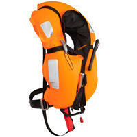 Adult Sailing Inflatable Life Jacket with Harness LJ150N AIR - Black