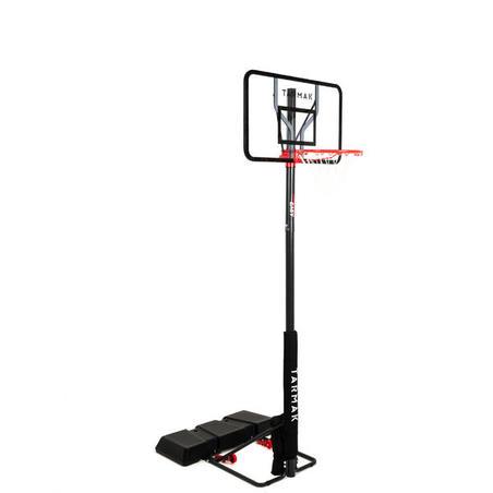 Polycarbonate B100 Easy Kids'/Adult Basketball Basket Tool-free adjustment.