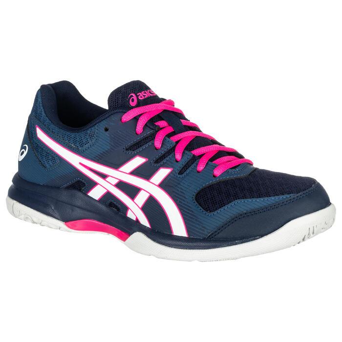 Badminton-/squashschoenen voor indoorsporten dames Gel Rocket blauw/wit/roze