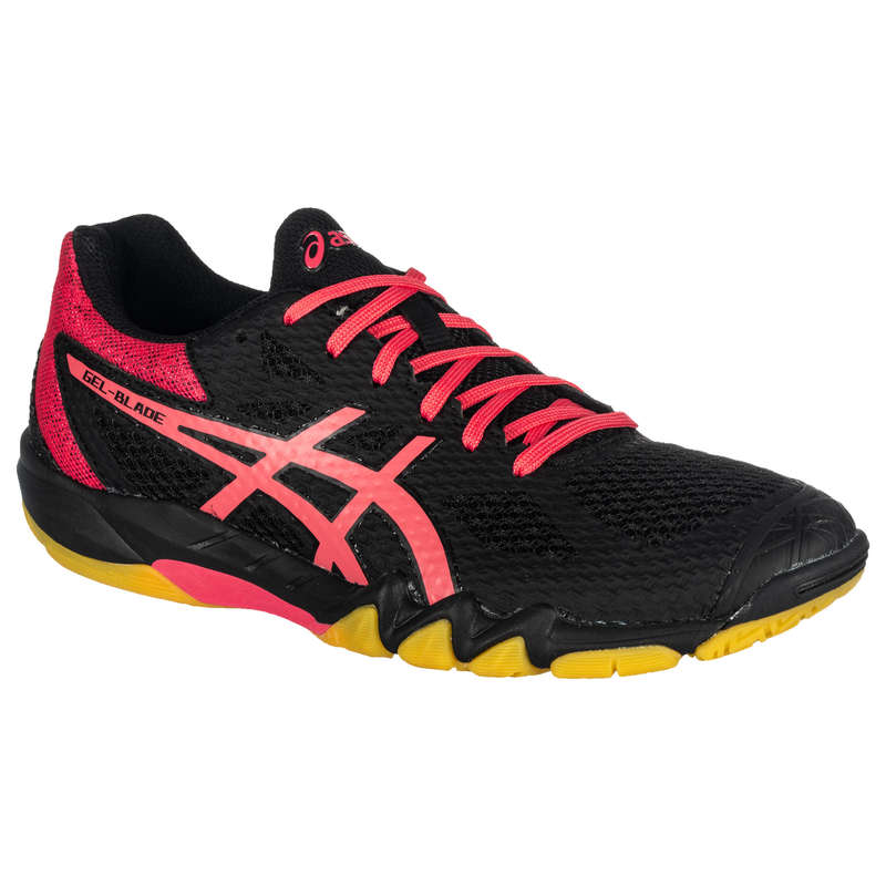 WOMEN'S ADVANCED BADMINTON SHOES Table Tennis - Gel Blade 7 - Black/Pink ASICS - Table Tennis