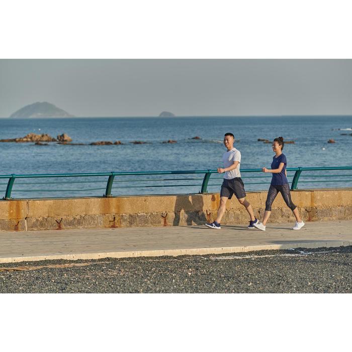 Damessneakers voor sportief wandelen PW 120 zwart / wit
