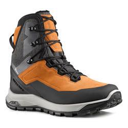 男款超保暖雪地健行高筒靴SH500-駝色。