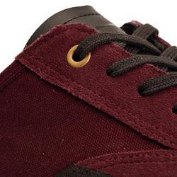 Lage skateschoenen voor volwassenen Vulca 500 bordeaux met rubberen zool