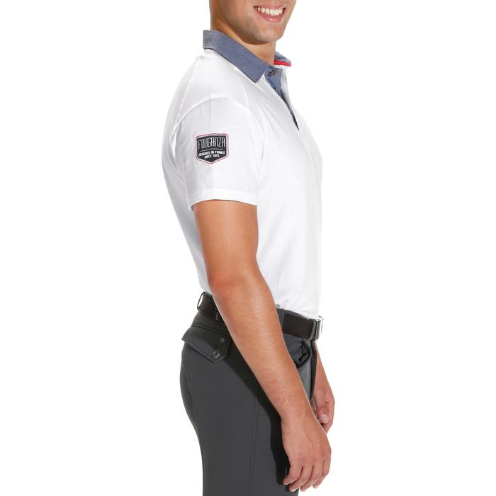 Blason Short-Sleeved Horse Riding Polo - White