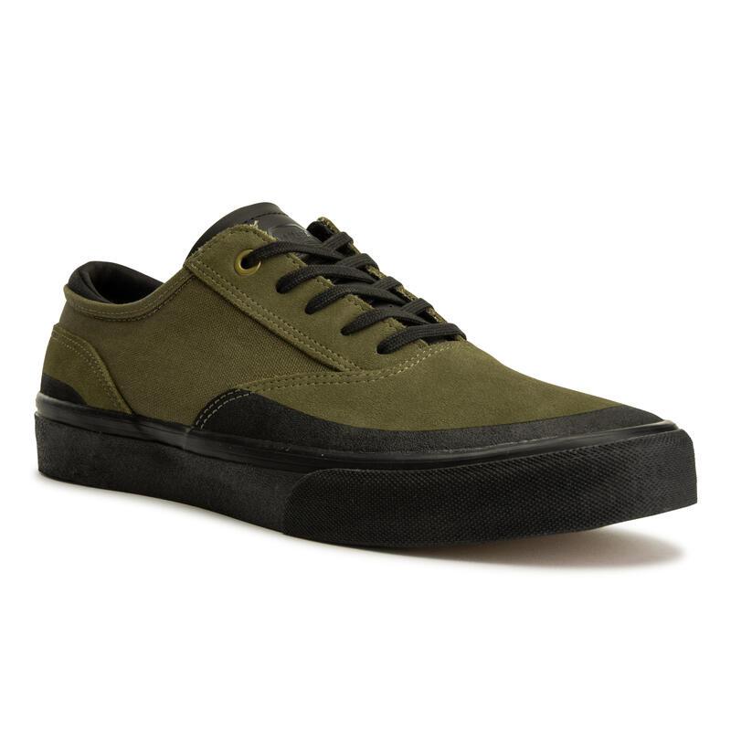 Vulca 500 Adult Low-Top Skate Shoes - Khaki/Black Sole