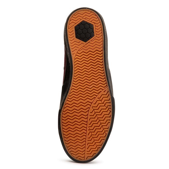 Skateschuhe Vulca 500 Low Erwachsene schwarze Sohle bordeauxrot