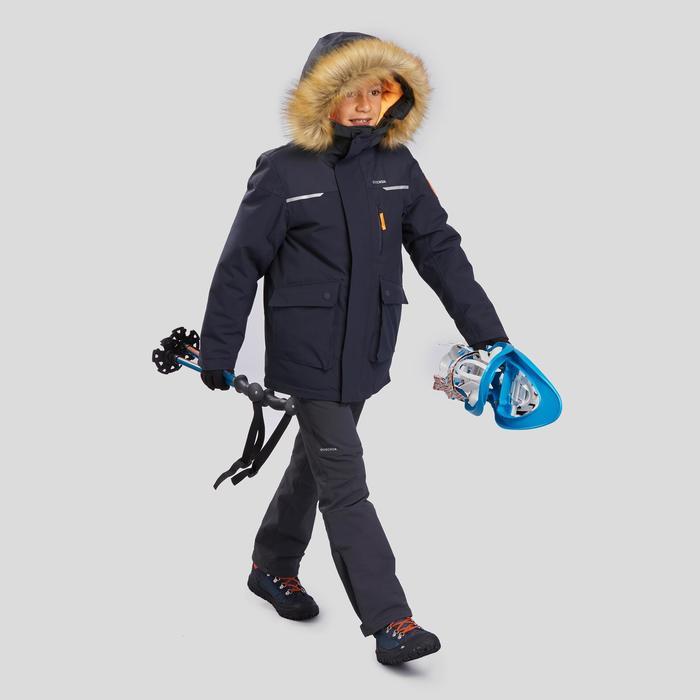 Boys' snow hiking parka SH500 U-Warm age 7-15 - Grey.