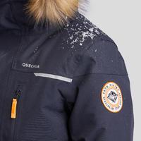 Veste chaude de randonnée neige enfant SH500 u-warm garçon 7-15 ans grise.