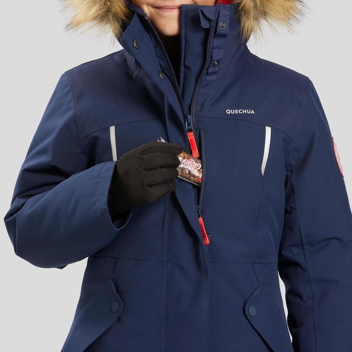 Warme waterdichte wandeljas voor de sneeuw meisjes SH500 U-Warm 7-15 jaar blauw