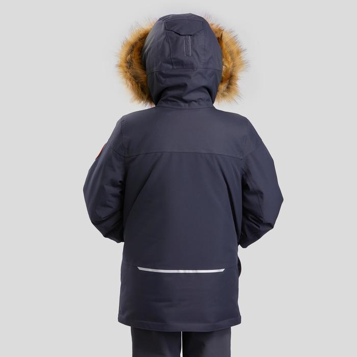 Parka chaude imperméable de randonnée enfant SH500 U-Warm garçon 7-15 ans grise.