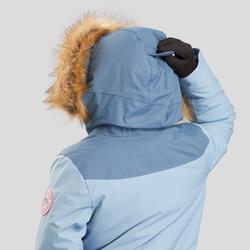 Parka chaude imperméable de randonnée enfant SH500 u-warm fille 7-15 ans Bleu Cl