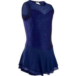 Eiskunstlaufkleid Kinder nachtblau