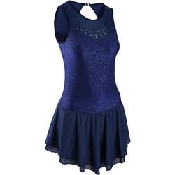 Eiskunstlaufkleid Erwachsene nachtblau