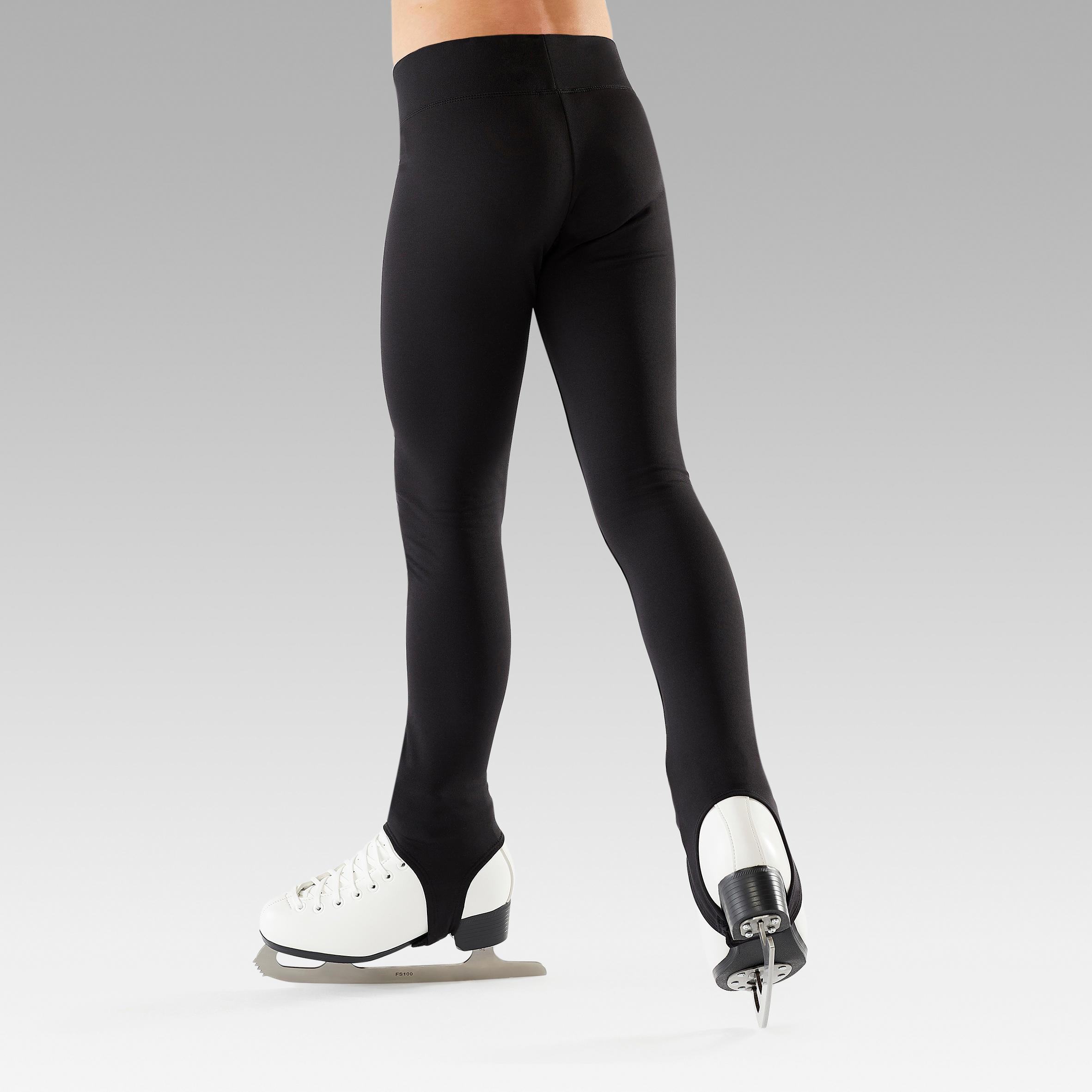 Hhwei Pratique du Patinage Artistique Pantalons pour Filles Molletonn/és Collants Leggings