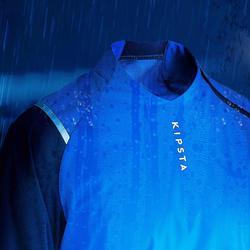 Waterdicht windjack voor voetbal voor volwassenen T500 blauw