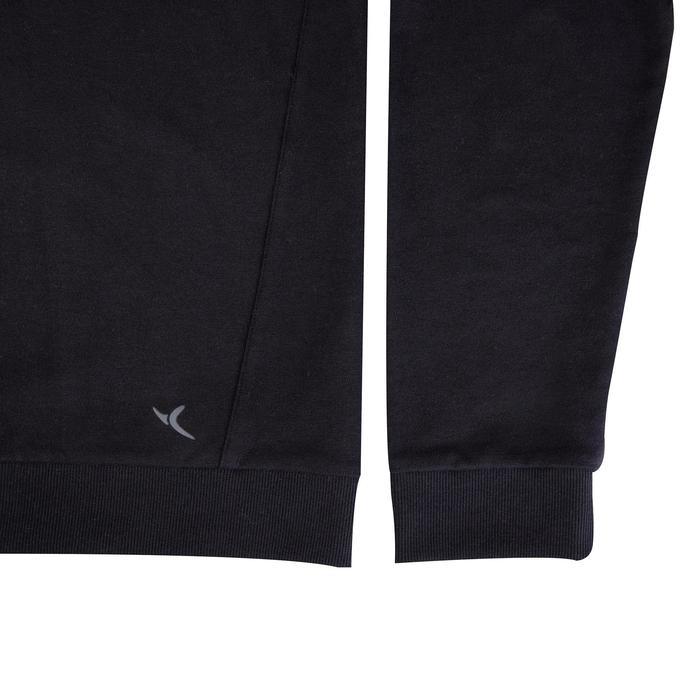 Herensweater voor pilates en lichte gym 500 zwart