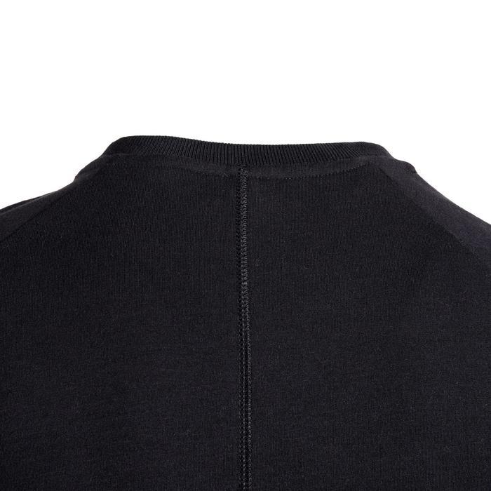 溫和健身與皮拉提斯運動衫500 - 黑色