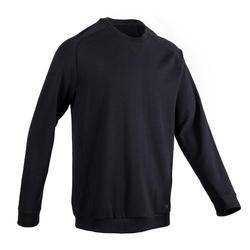 Sweatshirt 500 Pilates sanfte Gymnastik schwarz