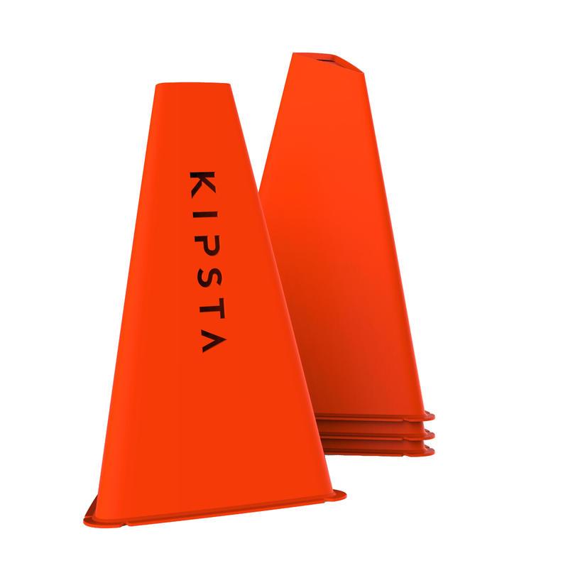 Pqt. de 4 conos Kipsta Essential 30cm naranja
