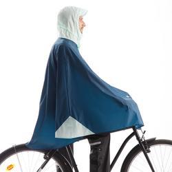 Fahrrad-Regenponcho City 500 blau/petrol