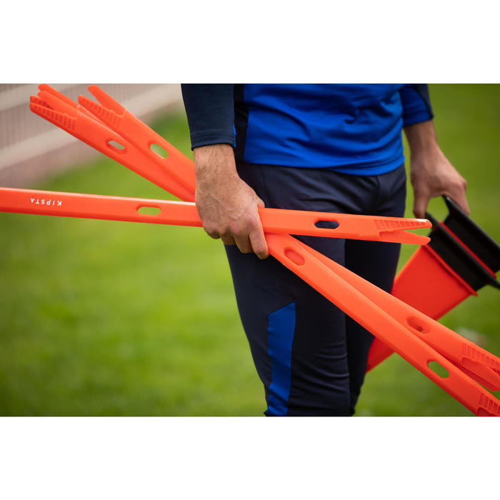 Lot de 2 jalons pour entraînement de football 90cm Modular orange