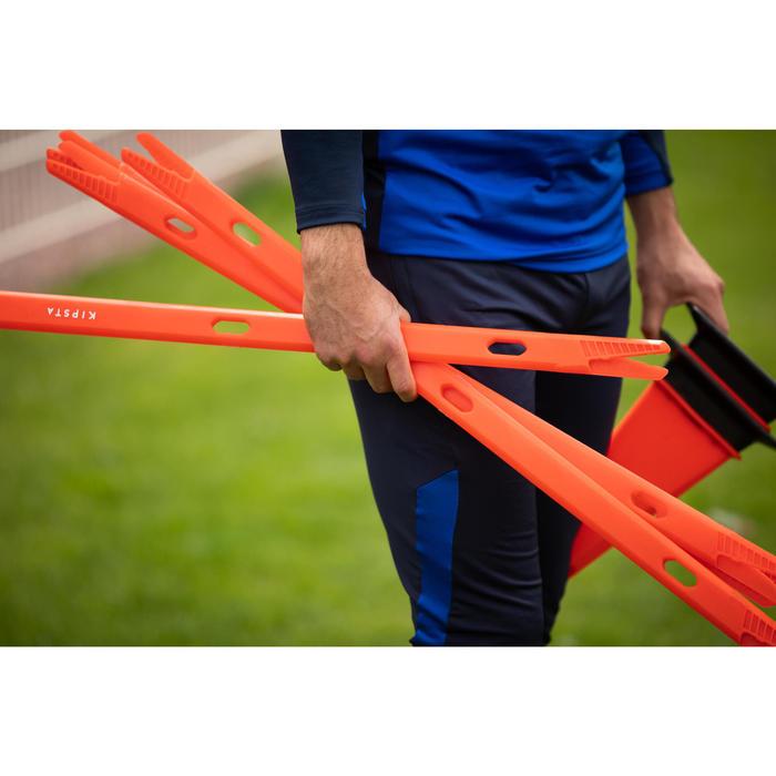 Set van 2 bakenstokken voor de voetbaltraining Modular 90 cm oranje
