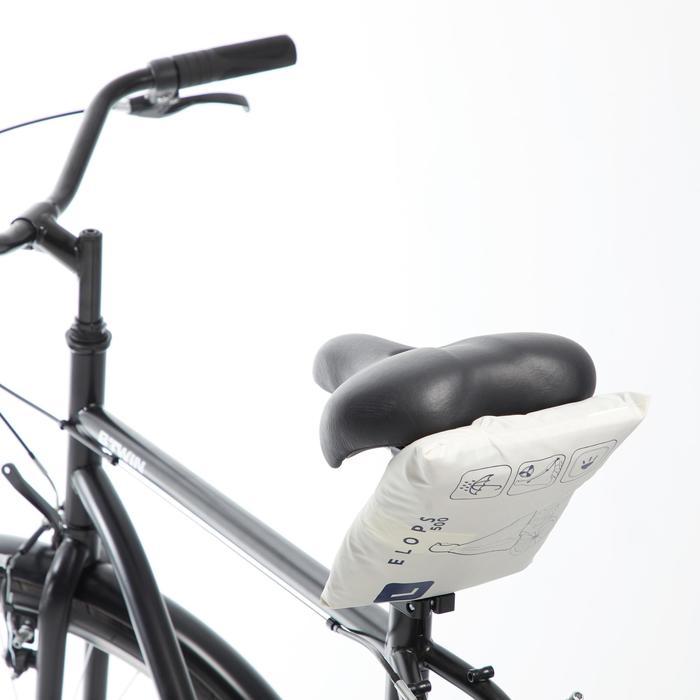 Fahrrad-Regenponcho City 500 navy/beige