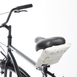 Regenponcho fiets 500 marineblauw beige
