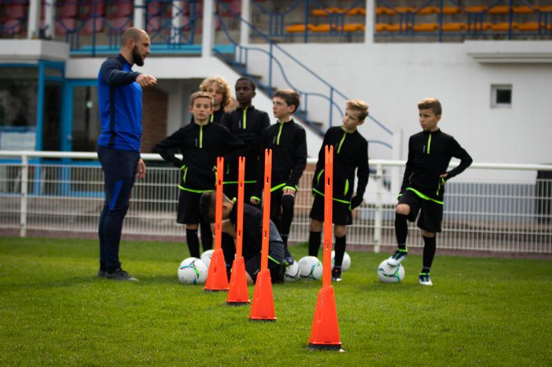 Modular 90 cm Football Training Bars Twin-Pack - Orange
