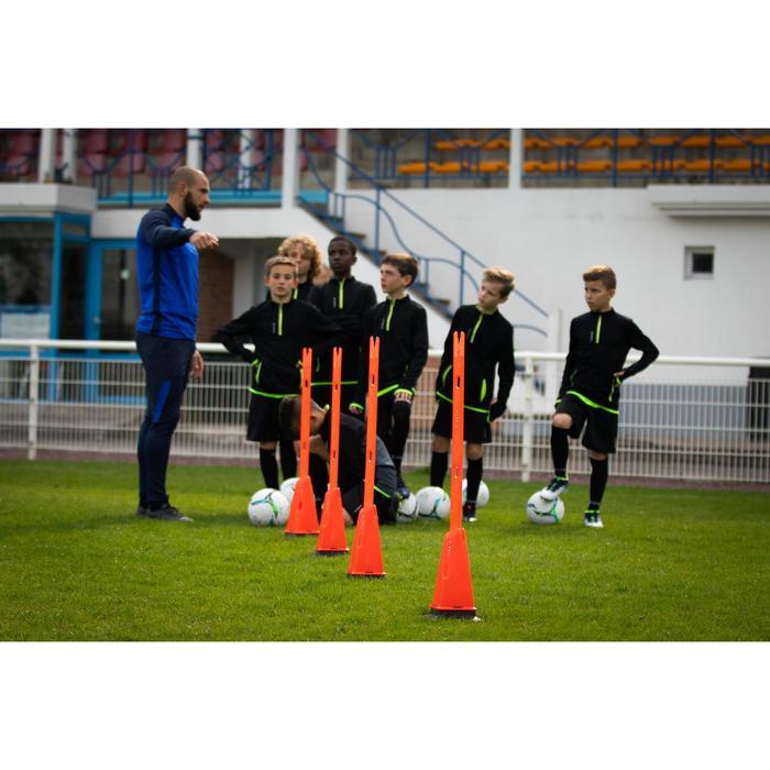 Set van 4 kegels voor de voetbaltraining Modular 30 cm oranje