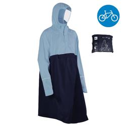 Fahrrad-Regenponcho City 900 blau/marine