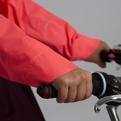 Fahrrad-Regenponcho City 900 neonpink/pflaume