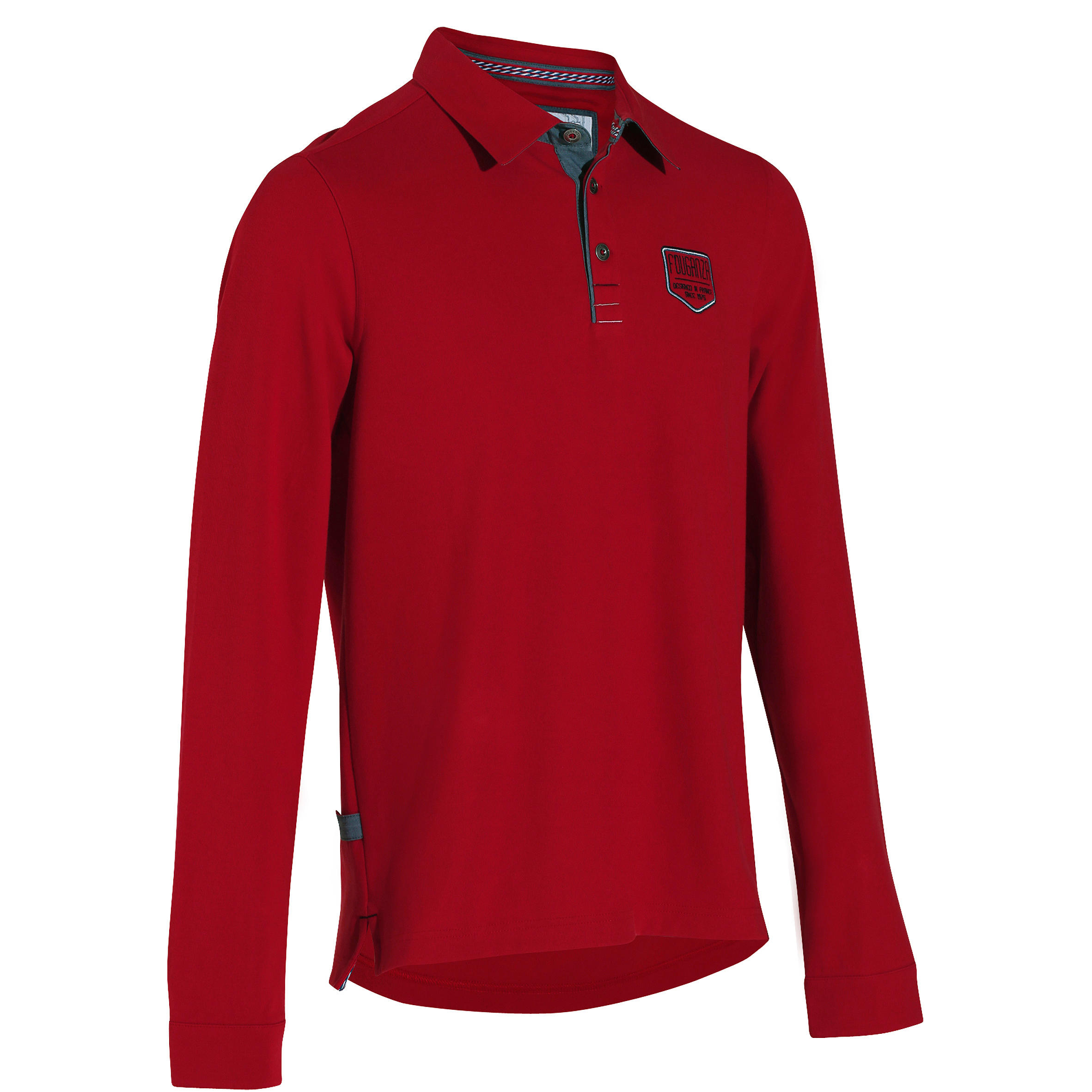 Blason Long-Sleeved Horseback Riding Polo - Red