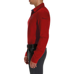Blason Long-Sleeved Horseback Riding Polo - Red
