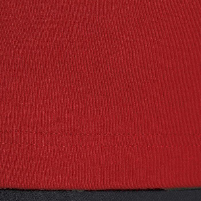 Herenpolo met lange mouwen Blason ruitersport rood